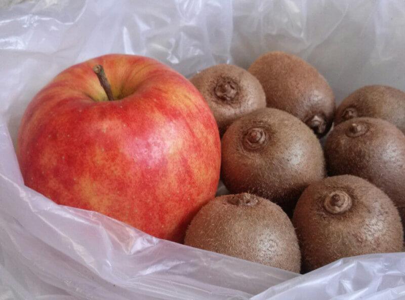 林檎、キウィフルーツの追熟方法